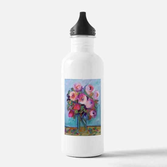 Impressionist Roses Water Bottle