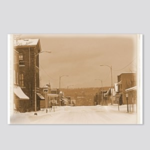Old Main Street in the Snow Postcards (Package of
