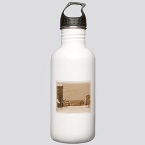 Old Main Street in the Snow Water Bottle