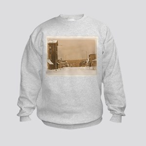 Old Main Street in the Snow Sweatshirt
