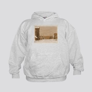Old Main Street in the Snow Hoodie