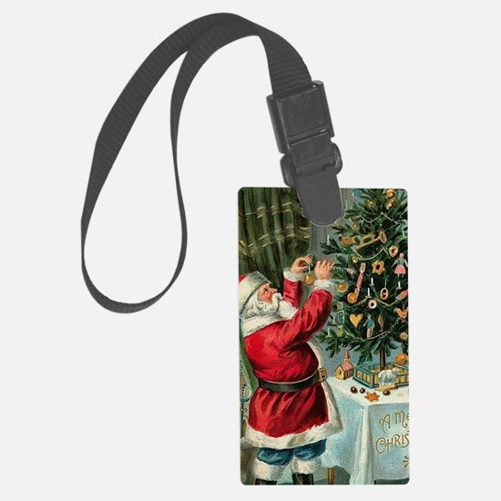 Unique Santa claus Luggage Tag