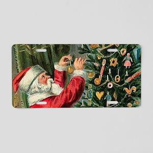 Vintage Santa Christmas Tre Aluminum License Plate