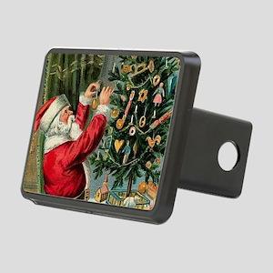 Vintage Santa Christmas Tr Rectangular Hitch Cover