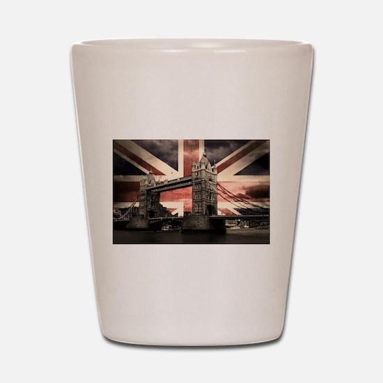Union Jack London Shot Glass