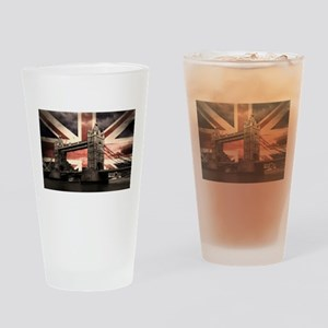 Union Jack London Drinking Glass