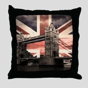 Union Jack London Throw Pillow
