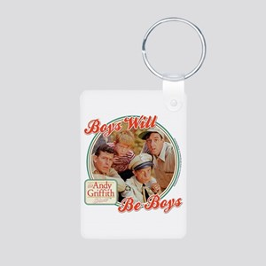 Boys Will Be Boys Aluminum Photo Keychain