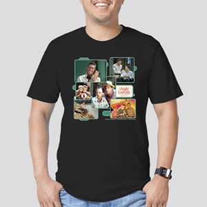 Andy Griffith Collage Men's Fitted T-Shirt (dark)