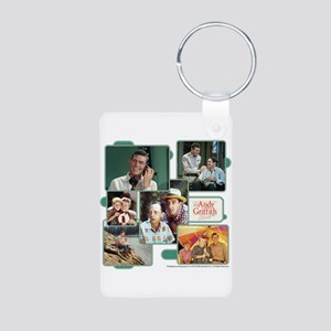 Andy Griffith Collage Aluminum Photo Keychain
