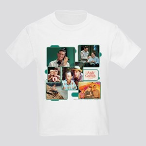 Andy Griffith Collage Kids Light T-Shirt