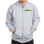 Green Moray Eel Zip Hoodie