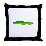 Green Moray Eel Throw Pillow