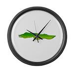 Green Moray Eel Large Wall Clock
