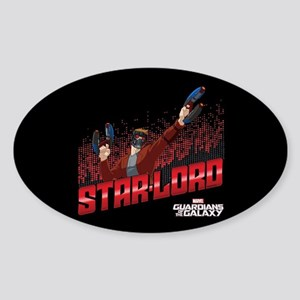 GOTG Star-Lord Guns Sticker (Oval)