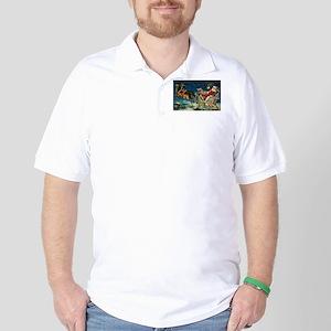 Vintage Santa Sleigh Golf Shirt