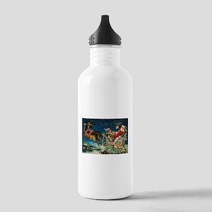 Vintage Santa Sleigh Stainless Water Bottle 1.0L