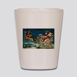 Vintage Santa Sleigh Shot Glass