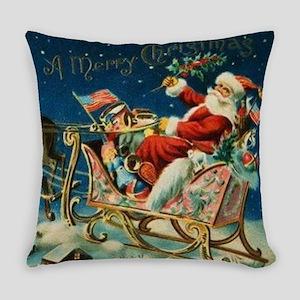 Vintage Santa Sleigh Everyday Pillow