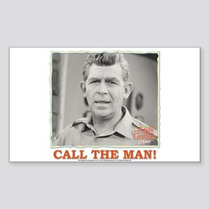 Call The Man! Sticker (Rectangle)