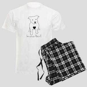 Love-a-Bull Pit Bull Men's Light Pajamas