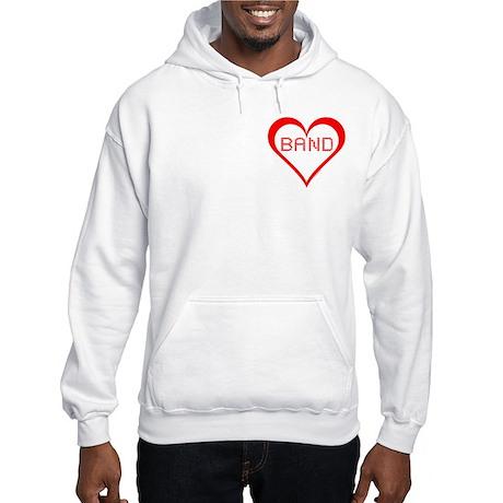 Band Hearts Pocket Image Hooded Sweatshirt