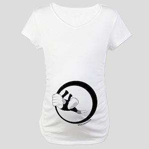 hanging rock climber Maternity T-Shirt