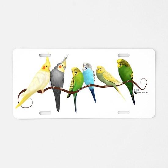 Unique Birds Aluminum License Plate