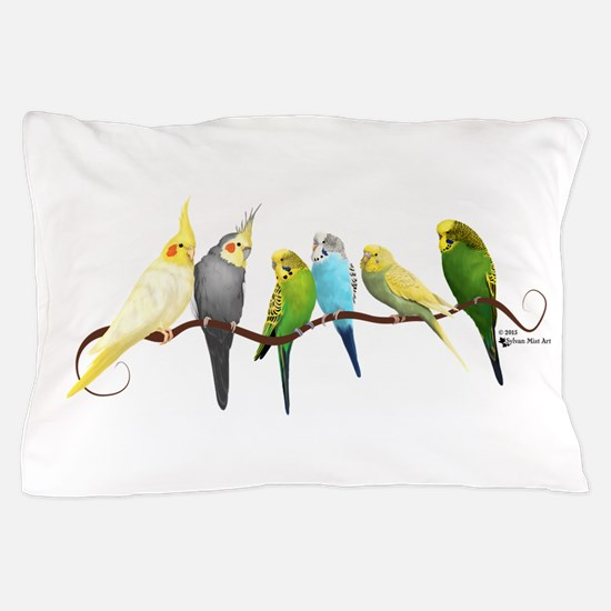 Parakeets & Cockatiels Pillow Case