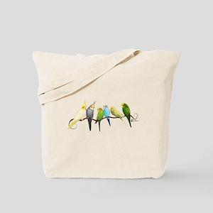 Parakeets & Cockatiels Tote Bag