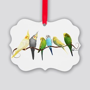 Parakeets & Cockatiels Picture Ornament