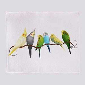 Parakeets & Cockatiels Throw Blanket