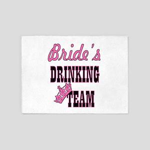 bachelorette bride's drinking team 5'x7'Area Rug