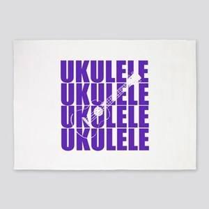 Purple Ukulele 5'x7'Area Rug