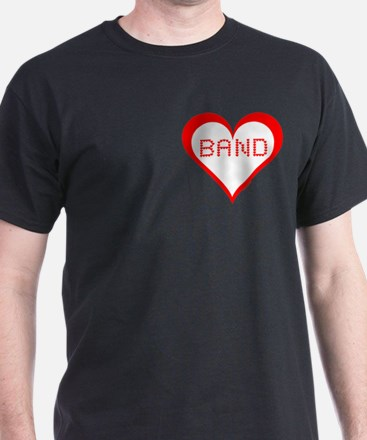 Band Hearts Pocket Image T-Shirt