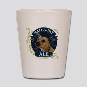 Bad Abby Pit Bull Ale Shot Glass