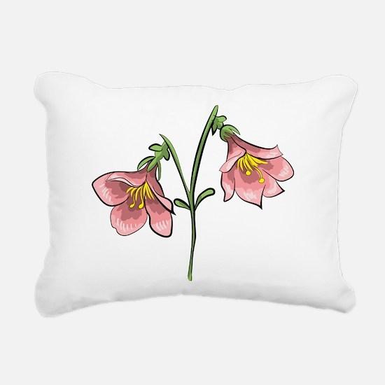 Linnea flower Rectangular Canvas Pillow
