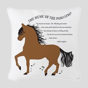 Hoofbeats Bay Woven Throw Pillow