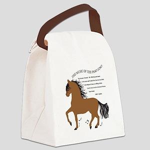 Hoofbeats Bay Canvas Lunch Bag