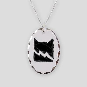 Thunderclan BLACK Necklace Oval Charm