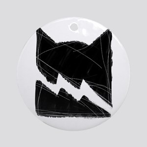 Thunderclan BLACK Round Ornament