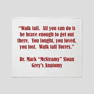 WALK TALL! Throw Blanket