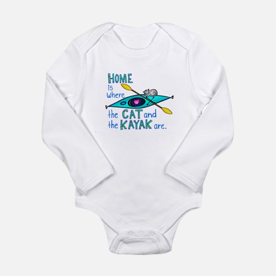 Cute Kayak Long Sleeve Infant Bodysuit