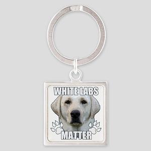 White labs matter Square Keychain
