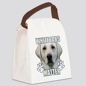 White labs matter Canvas Lunch Bag