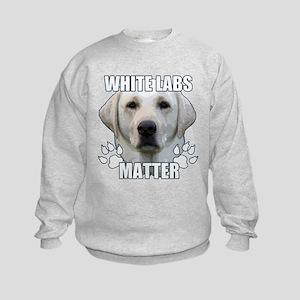 White labs matter Kids Sweatshirt