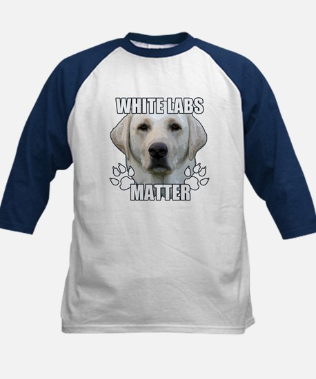 White labs matter Kids Baseball Jersey