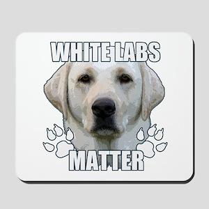 White labs matter Mousepad
