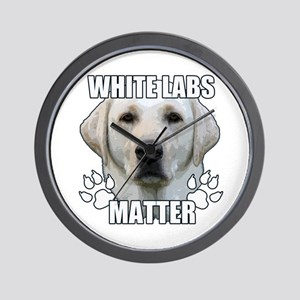 White labs matter Wall Clock
