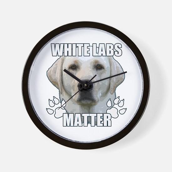 White labs matter Wall Clock